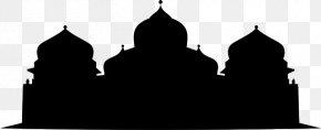Silhouette - Baiturrahman Grand Mosque In Banda Aceh Masjid Raya Baiturrahman Silhouette PNG
