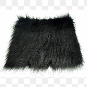 Black Fox - Fur Clothing Textile White PNG