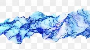 Electric Blue Smoke - Blue White Water Aqua Smoke PNG