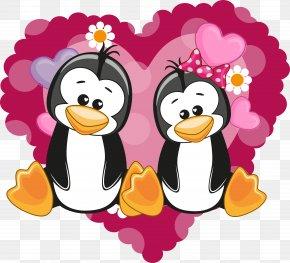Penguin Cartoon Couple - Penguin Cartoon PNG