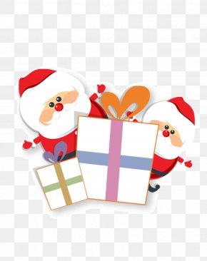 Santa Claus And Gifts Image - Santa Claus Royal Christmas Message Wish Christmas Card PNG