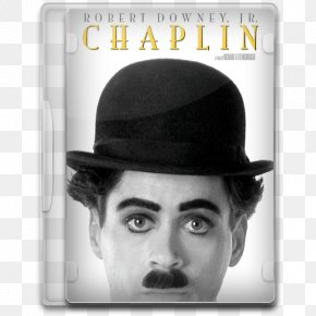 Chaplin - Gentleman Hat Fedora Black And White Headgear PNG