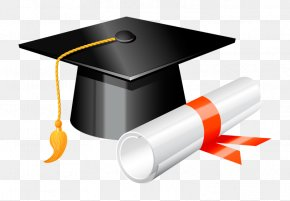 Academic Cap - Square Academic Cap Graduation Ceremony Diploma Clip Art PNG