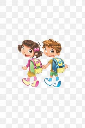 Go To School,school Bag,School - Student School Child Clip Art PNG