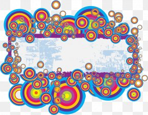 Vector Rainbow Circle Frame Theme - Rainbow Circle PNG