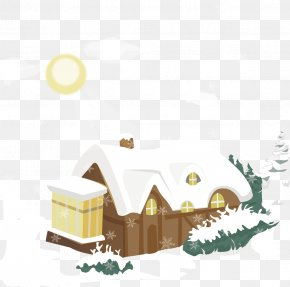 Housing Winter Snow Hanging Material - Clash Of Clans Tai Game SnowFall Free Wallpaper PNG