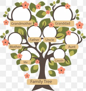 Small Flower Family Tree - Family Tree Genealogy Ancestor PNG