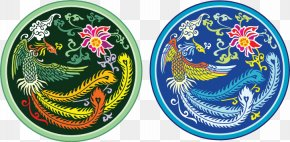 With A Dragon Pattern Vector Pattern Badge - Chinese Dragon Euclidean Vector Fenghuang Motif PNG