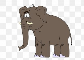 Q Version Animals - Indian Elephant African Elephant Cat Horse PNG