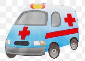 Law Enforcement Model Car - Ambulance Cartoon PNG