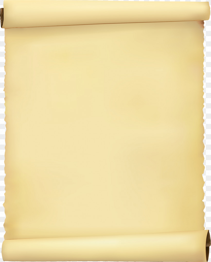 Scroll Yellow Rectangle Beige Paper Product, PNG, 2423x3000px, Watercolor, Beige, Paint, Paper Product, Rectangle Download Free