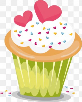 Colored Cupcakes - Cupcake Icing Bakery Muffin PNG