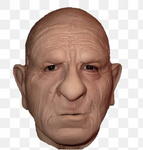 OLD MAN - Latex Mask Costume Party Halloween Costume Horror PNG