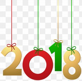 2018 Hanging Decoration Clip Art Image - New Year Message Happiness PNG