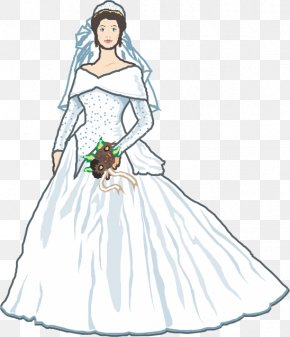 Wedding Woman - Contemporary Western Wedding Dress Wedding Invitation White Wedding PNG