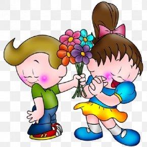 Kids Cartoon - Drawing Cartoon Boy Love Clip Art PNG