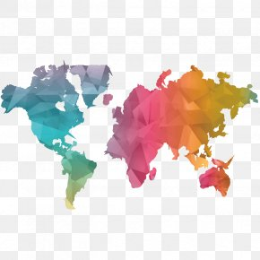 World Map - Paper World Map Sticker Decal PNG