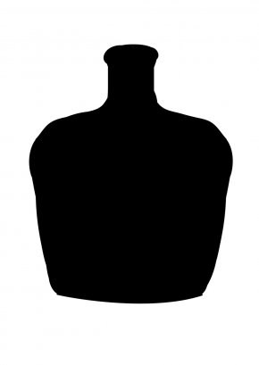 Bottle Silhouette - Neck Sleeve Font PNG