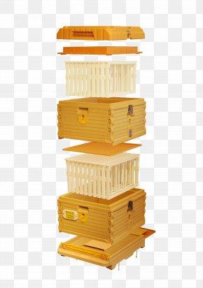 Bee - Western Honey Bee Beehive Langstroth Hive Beekeeping PNG