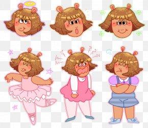 Arthur Cartoon - D.W Read Arthur Read Television Show Illustration PNG