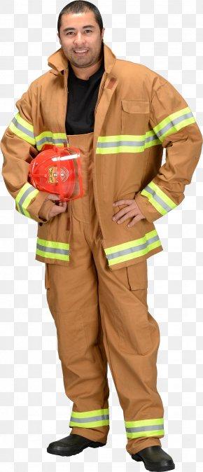 Firefighter - Firefighter Halloween Costume Bunker Gear Uniform PNG