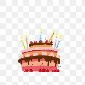 Birthday Cake - Birthday Cake Cupcake Illustration PNG