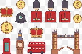 Vector British Soldiers - London Illustration PNG