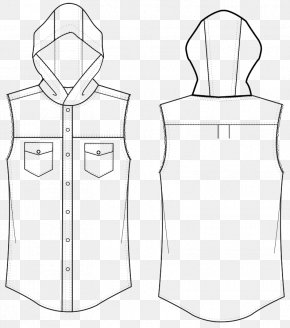 Hat Shirt Design Sketch - Shirt Line Art Drawing Clip Art PNG