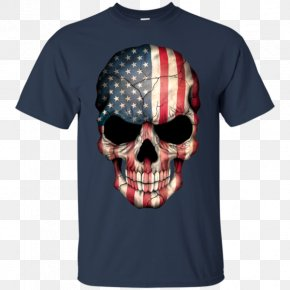 United States - Flag Of The United States Skull T-shirt PNG