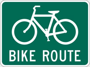 Route Cliparts - Bike Path Bicycle Cycling Road Sign PNG