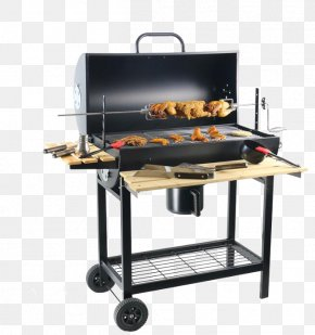 Black Charcoal Barbecue Grill - Barbecue-Smoker Grilling Charcoal Oven PNG