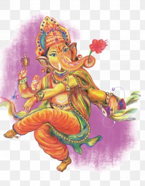 Vector Hand-painted India Elephant God - Ganesha India Ganesh Chaturthi PNG