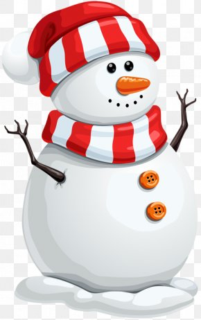 Cute Snowman - Santa Claus Christmas Decoration Snowman Clip Art PNG