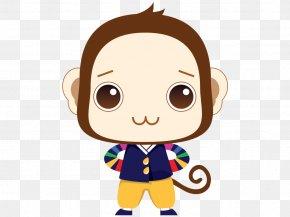 Cute Monkey - Monkey Cartoon Cuteness PNG