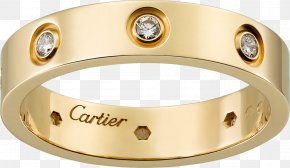 Proposal Ring - Wedding Ring Cartier Diamond Colored Gold PNG