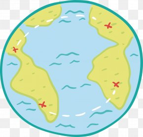 Round Blue Adventure Map - Organism Area Clip Art PNG