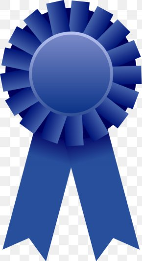 Black Award Cliparts - Blue Ribbon Award Clip Art PNG