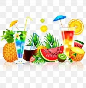 Summer Juice - Juice Fruit Watermelon Pineapple PNG