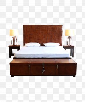 Bed - Nightstand Bed Size Table Bedroom PNG