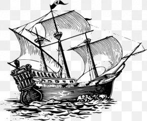 Ship - Drawing Sailing Ship Piracy PNG