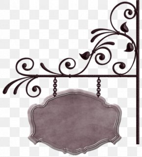 Iron Pattern Frame Tag - Banner Sign PNG