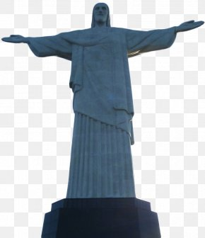 Brazil Landmark Statue Of Christ In Rio De Janeiro - Christ The Redeemer Corcovado Statue Drawing PNG