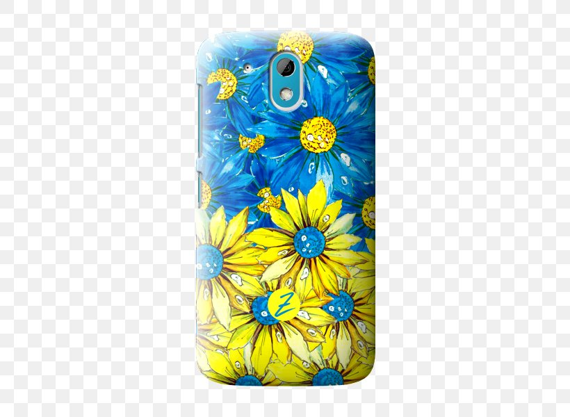 Common Sunflower Cut Flowers Mobile Phone Accessories Mobile Phones, PNG, 500x600px, Common Sunflower, Cobalt Blue, Cut Flowers, Electric Blue, Flower Download Free