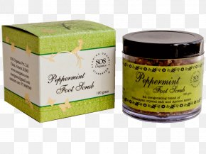 Foot Scrub - Cream SOS Organics Peppermint Lip Balm PNG