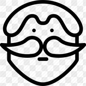 Mustache Outline - Smiley ICO Clip Art PNG