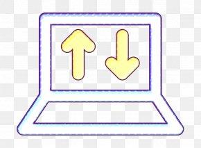 Signage Laptop Icon - Computing Icon Data Transfer Icon Laptop Icon PNG