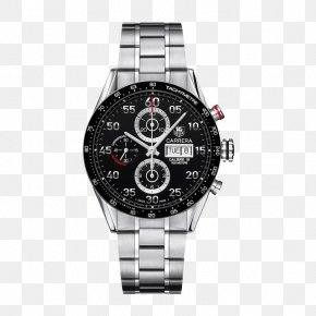 TAG,Heuer Black Dial Watch - Omega Speedmaster Automatic Watch TAG Heuer Chronograph PNG
