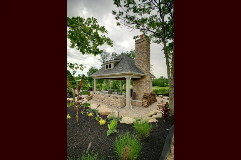 Outdoor Fireplace Living Room Kitchen Png 1100x735px Fireplace