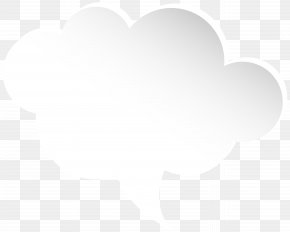 Bubble Speech Cloud White Clip Art Image - Black And White Cloud Pattern PNG