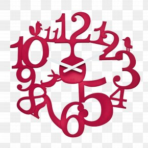 Red Creative Clock Material Free To Pull - Clock Table Wall Kitchen Timer PNG